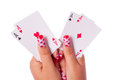 All aces in my hands Stock Images