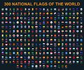 All flags of the world in alphabetical order. Round, circle glossy style Royalty Free Stock Photo