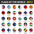 All flags of the world set 3 . Circle and concave design