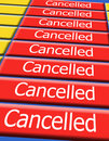 All flights cancelled Stock Photography