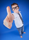 All good cool six years old boy with thumb up Stock Images