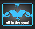 All in the gym design a banner or badge for Stock Image