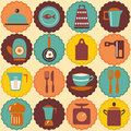 All for the house retro icons vintage style kitchen utensil Stock Images