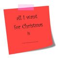 All I want for Christmas note illustration Royalty Free Stock Photo