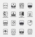 All icon vector / human skin set .