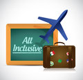 All inclusive travel concept illustration design over white Royalty Free Stock Photography