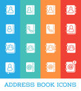 All Kinds of Contact Us Address Book Icons in Vector  fo Royalty Free Stock Photo