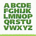 All letters of green grass alphabet. Royalty Free Stock Photo