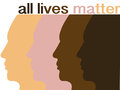 All lives matter Royalty Free Stock Photo