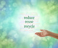 We all need to do this: Reduce Reuse Recycle Royalty Free Stock Photo