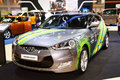 All new veloster brazil skin for football world cup from hyundai bangkok march at the th bangkok international motor show concept Royalty Free Stock Image