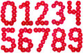 ALL number laid out by roses Royalty Free Stock Photos