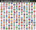 All official national flags of the world . Formal design . Vector