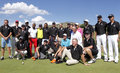All players group photo november celebrity player at gary player charity invitational golf tournament november sun city south Royalty Free Stock Image