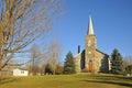 All saints anglican church dunham quebec canada Stock Image