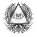 All seeing eye in delta triangle Royalty Free Stock Photo