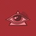 All seeing eye of horus theme art illustration Royalty Free Stock Image