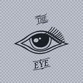All seeing eye of horus theme art illustration Royalty Free Stock Photography