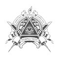 All seeing eye. Mystic occult esoteric. Royalty Free Stock Photo