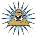 All seeing eye of providence the freemason symbol the Stock Images