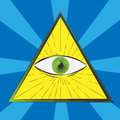 All seeing eye symbol excellent illustration eps Stock Photography