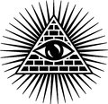 All seeing eye symbol omniscience Stock Image