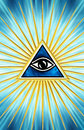 All seeing eye symbol omniscience Royalty Free Stock Photography