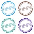 All services free badge isolated on white. Royalty Free Stock Photo