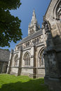 All souls church halifax the gothic styled architecture and spire of in west yorkshire Stock Images