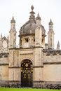 All souls college entrance gate oxford uk gateway with ornate iron oxfordshire england Stock Photo