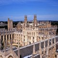 All souls college oxford elevated view of rooftops the warden and the of the of faithful people deceased in the Stock Photos