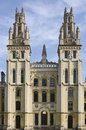 All souls college oxford england twin towers of in Stock Photo
