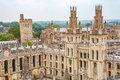 All souls college oxford uk view of at the university of england Royalty Free Stock Photo