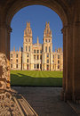 All souls college oxford in was founded by king henry vi in fourteen thirty eight Royalty Free Stock Photography