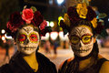 All souls procession in tucson arizona crowds dressed up and masked during the day of the dead az usa a mexican tradition also Stock Photos