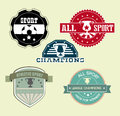 All sport over cream background vector illustration Royalty Free Stock Photos