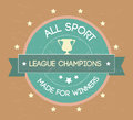 All sport over cream background vector illustration Stock Photos