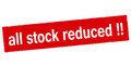 All stock reduced Royalty Free Stock Photo