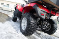 All-terrain vehicle closeup. Royalty Free Stock Photo