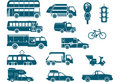 All types of City Transport Royalty Free Stock Photography