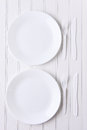 All White Place Setting Royalty Free Stock Photo