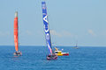 The All Women Team SCA Following Dongfeng Race Team - Sailing Yacht Racing Crews Royalty Free Stock Photo