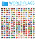 All World Flags - New Additional List of Countries and Territories - Vector Tag Flat Icons