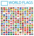All World Flags - Vector Rectangle Flat Icons
