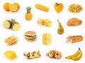 All yellow. Food collection. Stock Image
