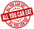 all you can eat red grunge round vintage stamp Royalty Free Stock Photo