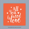 All you need is Love - hand drawn lettering Royalty Free Stock Photo
