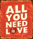 All you need is love vector illustration Royalty Free Stock Photos