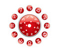 All zodiac red Royalty Free Stock Photography