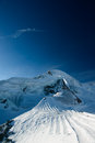 Allalinhorn mountain peak Royalty Free Stock Images